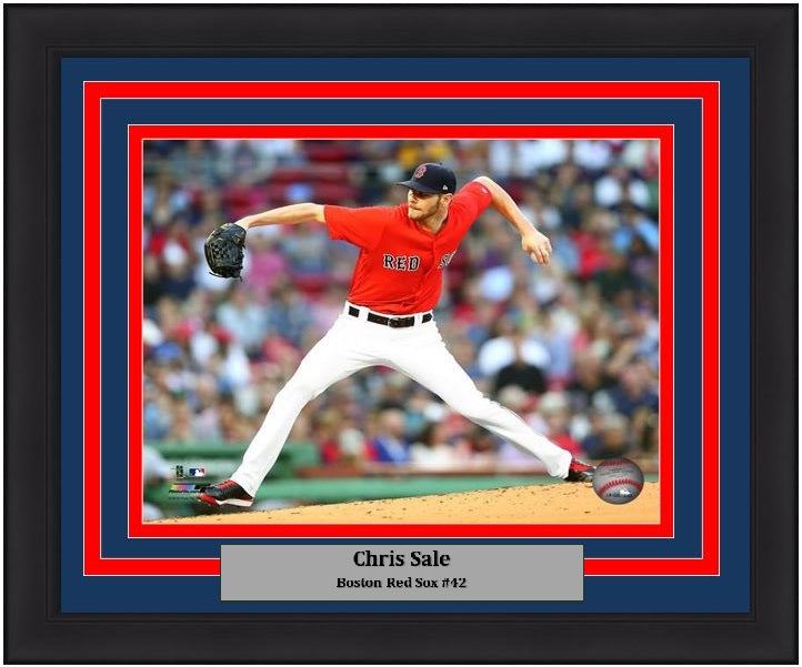 "Boston Red Sox Chris Sale MLB Baseball 8"" x 10"" Framed and Matted Photo"