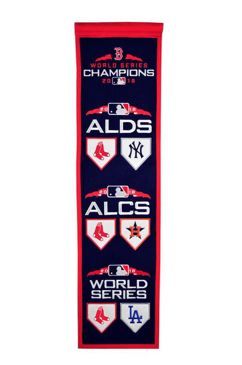 Boston Red Sox 2018 Road to the World Series MLB Heritage Banner - Dynasty Sports & Framing