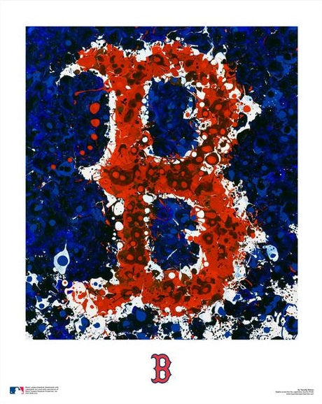 "Boston Red Sox Timothy Raines Logo Art MLB Baseball 16"" x 20"" Word-Art Photo"