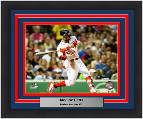 "Boston Red Sox Mookie Betts MLB Baseball 8"" x 10"" Framed and Matted Photo"