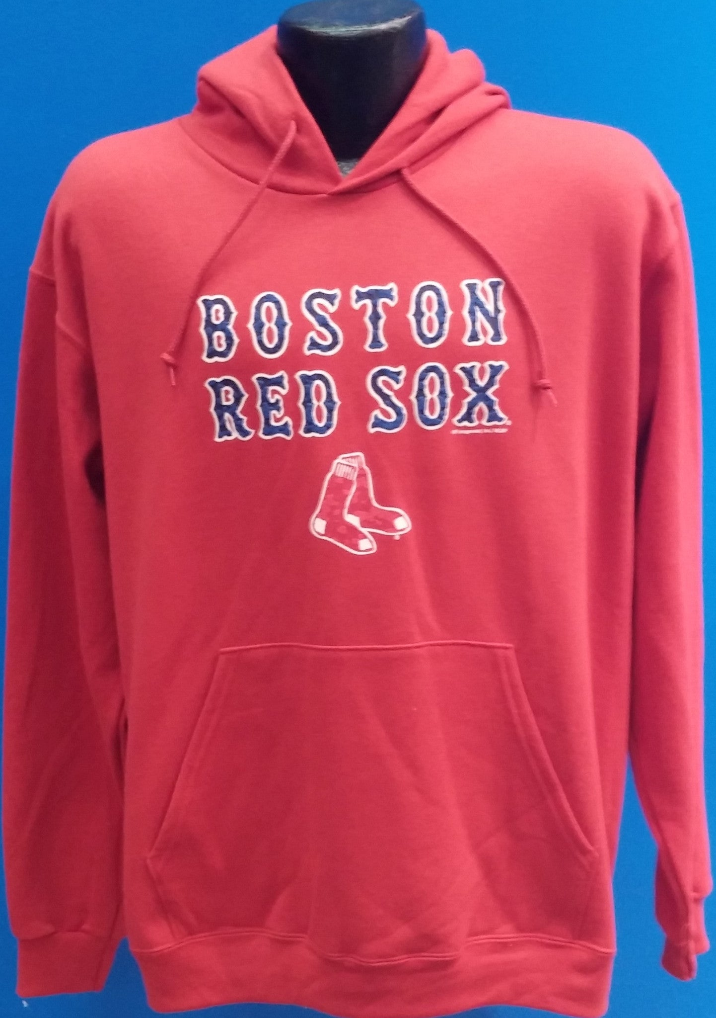 reputable site e7ac7 aad49 Boston Red Sox Red Pullover Hooded Sweatshirt - MLB Baseball Apparel
