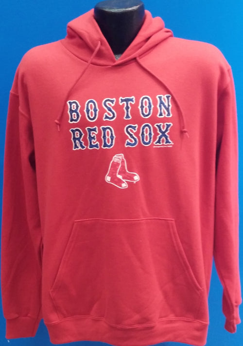 Boston Red Sox Majestic Hooded Pullover Sweatshirt - Dynasty Sports & Framing