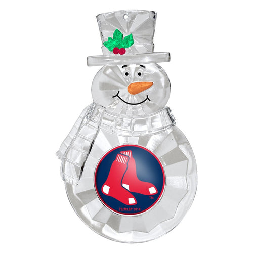 Boston Red Sox Snowman Holiday Ornament