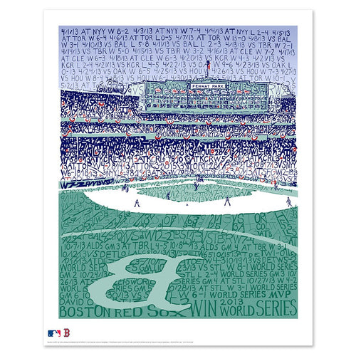 "Boston Red Sox Fenway Park Road to the 2013 World Series MLB Baseball 16"" x 20"" Word-Art Photo"