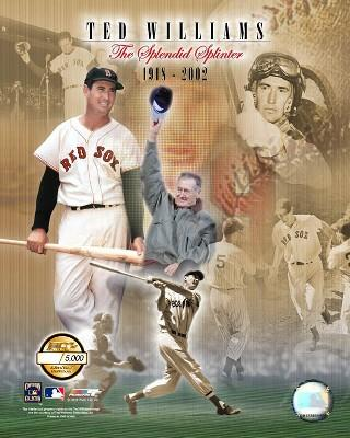 "Ted Williams Boston Red Sox Splendid Splinter Collage MLB Baseball 8"" x 10"" Photo"