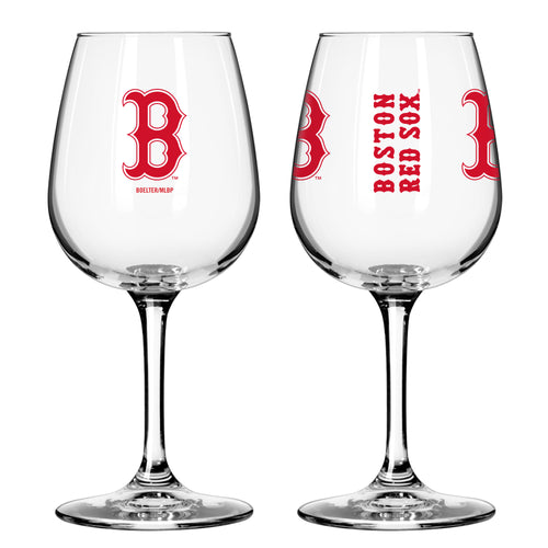 Boston Red Sox 12 oz. Baseball Wine Glass