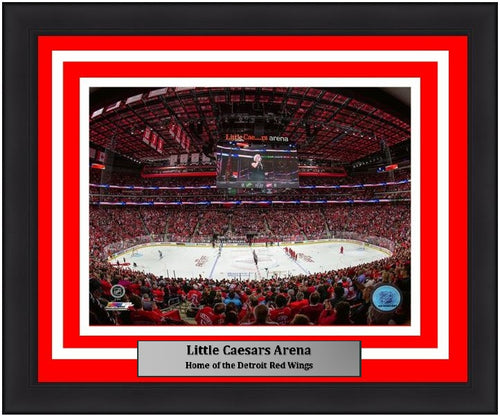 "Detroit Red Wings Little Caesars Arena NHL Hockey Stadium 8"" x 10"" Framed and Matted Photo"