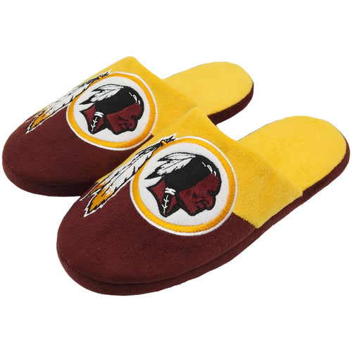 Washington Redskins Colorblock Big Logo Slippers - Dynasty Sports & Framing