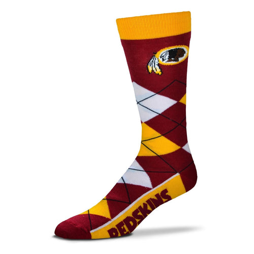 Washington Redskins Men's NFL Football Argyle Lineup Socks