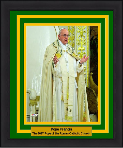 "Pope Francis 266th Pope of the Roman Catholic Church 8"" x 10"" Framed and Matted Photo"