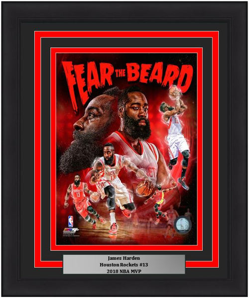 "Houston Rockets James Harden NBA Basketball 8"" x 10"" Framed and Matted Collage Photo"