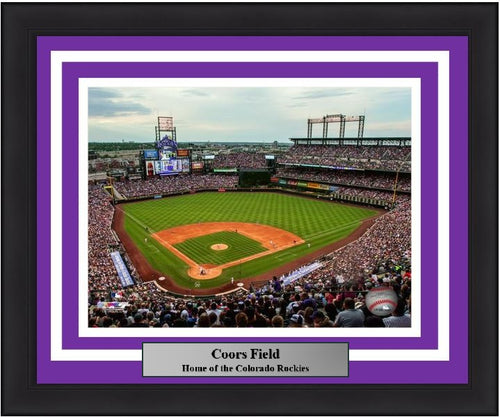 "Colorado Rockies Coors Field MLB Baseball 8"" x 10"" Framed and Matted Photo"