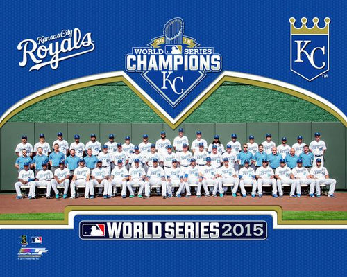 "Kansas City Royals 2015 World Series Team Line-Up MLB Baseball 8"" x 10"" Photo - Dynasty Sports & Framing"