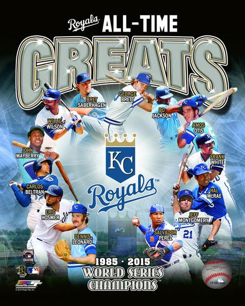 "Kansas City Royals All-Time Greats MLB Baseball 8"" x 10"" Photo"