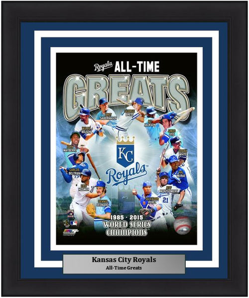 "Kansas City Royals All-Time Greats MLB Baseball 8"" x 10"" Framed and Matted Photo"