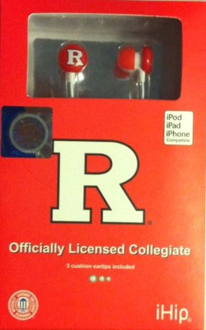 Rutgers Scarlet Knights iHip Ear Buds - Dynasty Sports & Framing