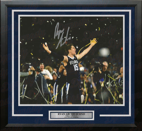 Ryan Arcidiacono 2016 NCAA Champions Villanova Wildcats 16x20 Framed Basketball Autographed Photo - Dynasty Sports & Framing