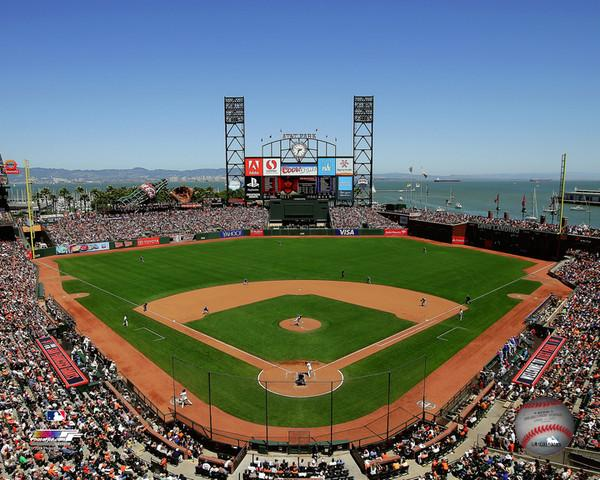 "San Francisco Giants AT&T Park MLB Baseball 8"" x 10"" Stadium Photo"