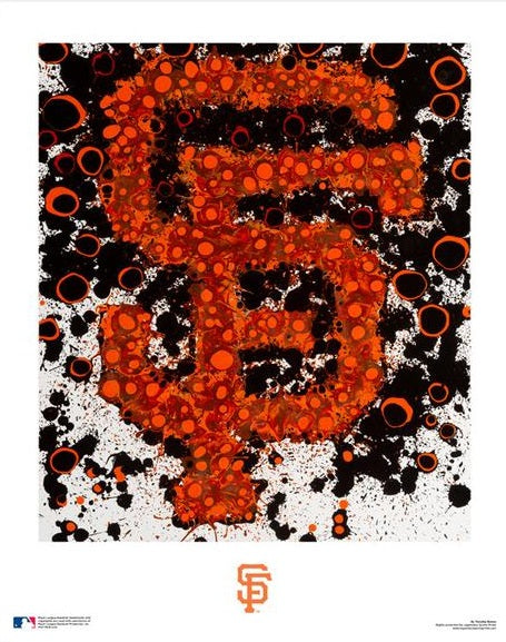 "San Francisco Giants Timothy Raines Logo Art MLB Baseball 16"" x 20"" Word-Art Photo"