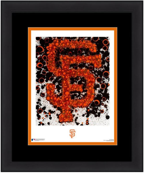"San Francisco Giants Timothy Raines Logo Art MLB Baseball 16"" x 20"" Word-Art Framed and Matted Photo - Dynasty Sports & Framing"
