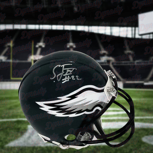 Sidney Jones Philadelphia Eagles Autographed NFL Football Mini-Helmet - Dynasty Sports & Framing