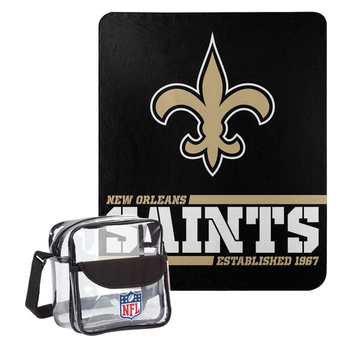 "New Orleans Saints Dream Team Tote with 50"" x 60"" Fleece Throw Blanket - Dynasty Sports & Framing"