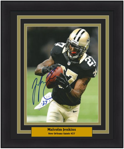 "Malcolm Jenkins in Action New Orleans Saints NFL Football Autographed 8"" x 10"" Framed Photo - Dynasty Sports & Framing"