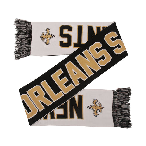 New Orleans Saints Reversible Wordmark Scarf - Dynasty Sports & Framing