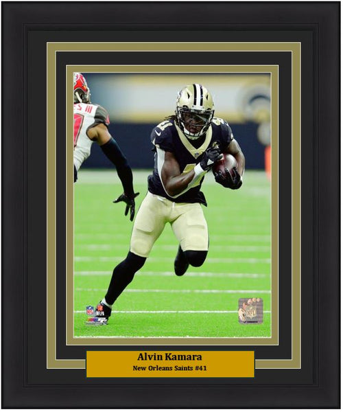 "New Orleans Saints Alvin Kamara NFL Football 8"" x 10"" Framed and Matted Photo - Dynasty Sports & Framing"
