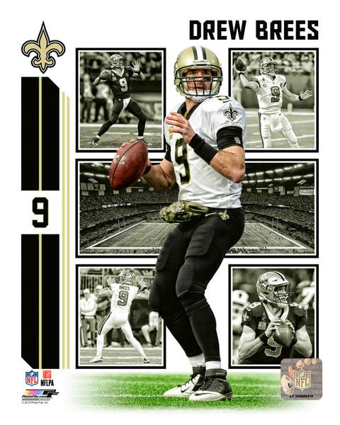 "Drew Brees Player Collage New Orleans Saints NFL Football 8"" x 10"" Photo"