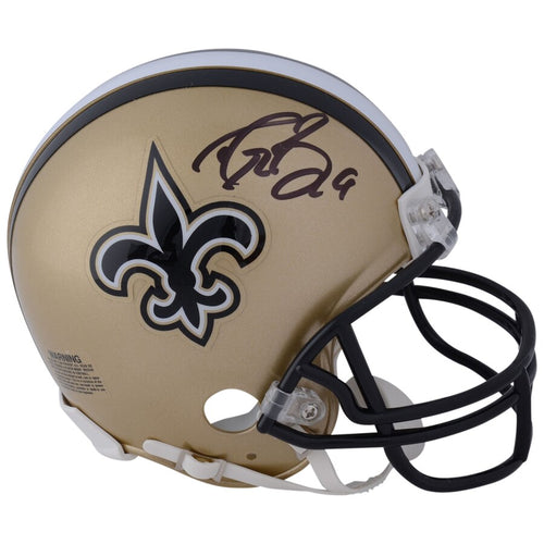 Drew Brees New Orleans Saints Autographed NFL Football Mini-Helmet