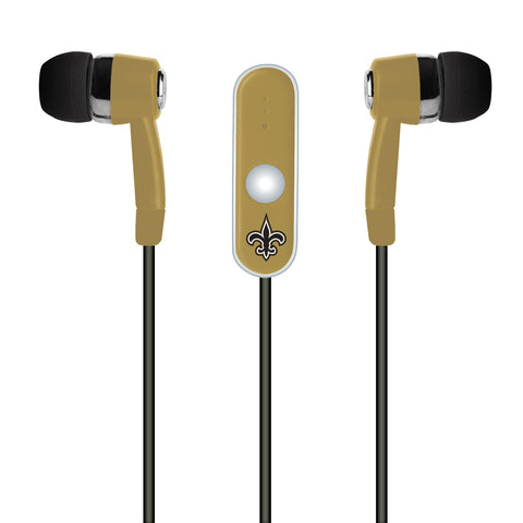 New Orleans Saints Hands Free Ear Buds with Microphone - Dynasty Sports & Framing