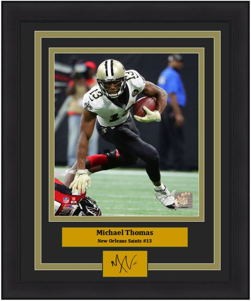 "Michael Thomas New Orleans Saints NFL Football 8"" x 10"" Framed and Matted Photo with Engraved Autograph"