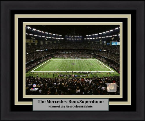 "New Orleans Saints Mercedes-Benz Superdome 8"" x 10"" Framed Football Stadium Photo - Dynasty Sports & Framing"