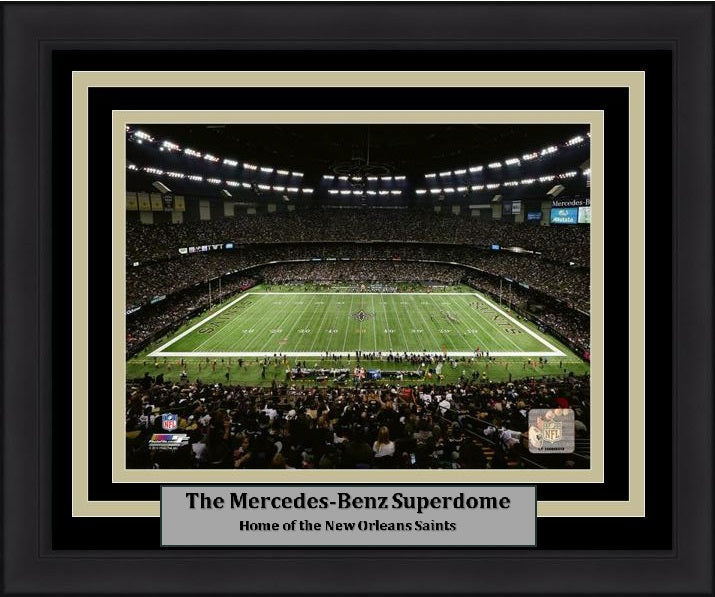 "New Orleans Saints Mercedes-Benz Superdome Stadium NFL Football 8"" x 10"" Framed and Matted Photo"