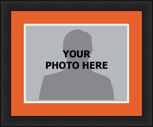 MLB Baseball Photo Picture Frame Kit - San Francisco Giants (Orange Matting, White Trim)