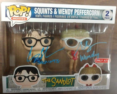 The Sandlot Chauncey Leoparcii (Squints) & Marley Shelton (Wendy Peffercorn) Autographed Dual Funko Pop - Dynasty Sports & Framing
