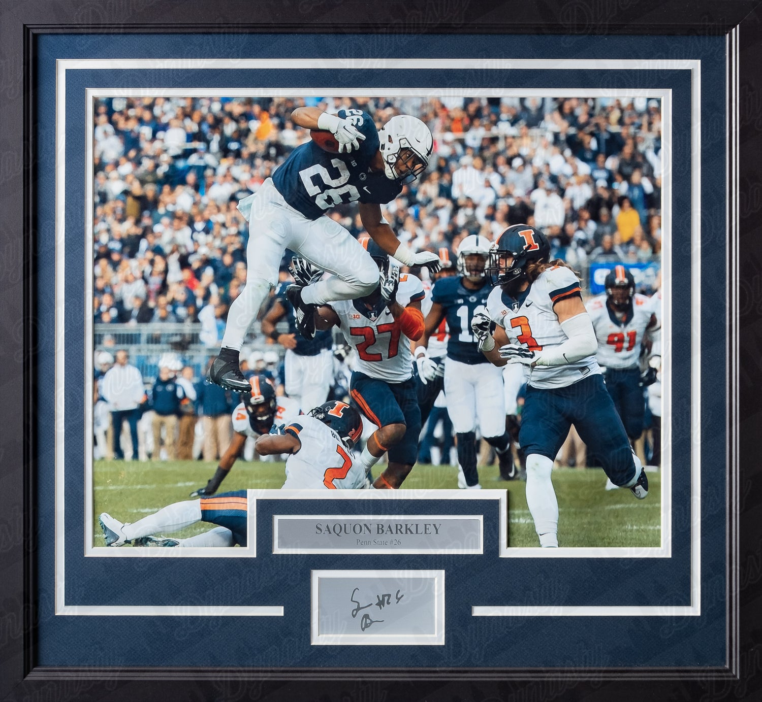 100% authentic 1a305 b7bd7 Saquon Barkley Penn State Nittany Lions College Football Framed & Matted  Photo with Engraved Autograph
