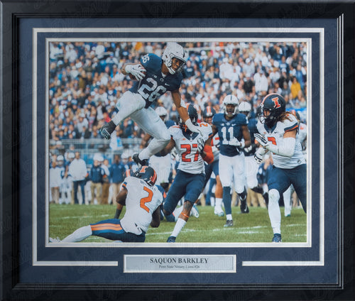 Penn State Nittany Lions Saquon Barkley College Football Framed & Matted Photo