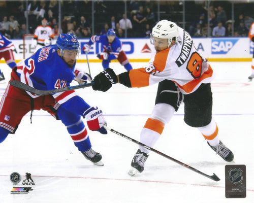 Carsen Twarynski Philadelphia Flyers in Action Hockey Photo - Dynasty Sports & Framing