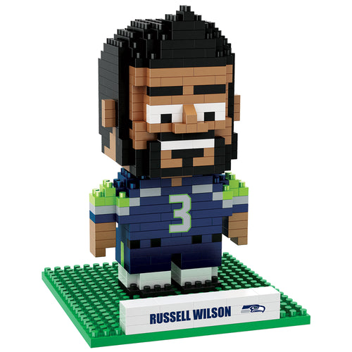 Russell Wilson Seattle Seahawks 3D Player BRXLZ Puzzle - Dynasty Sports & Framing
