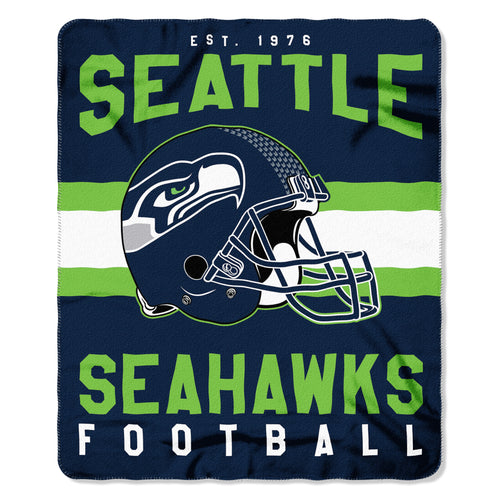 "Seattle Seahawks NFL Football 50"" x 60"" Singular Fleece Blanket"