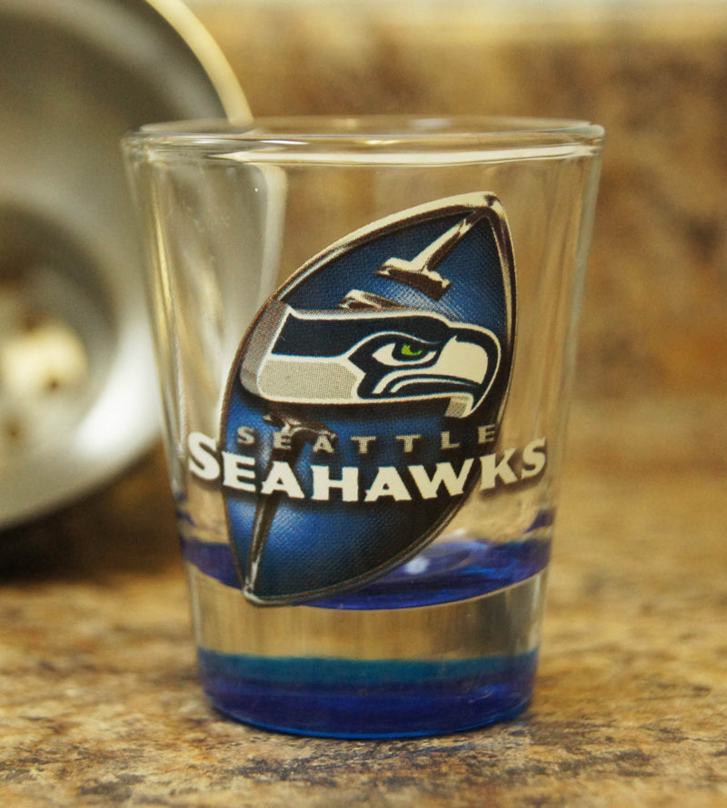 Seattle Seahawks NFL Football Clear Highlight Shot Glass