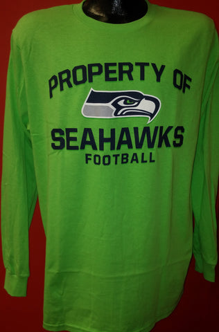 Seattle Seahawks Football NFL Men's Majestic Long-Sleeve T-Shirt - Dynasty Sports & Framing