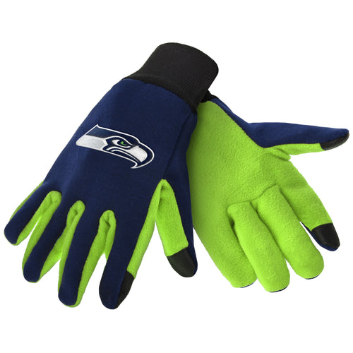 Seattle Seahawks NFL Football Texting Gloves - Dynasty Sports & Framing
