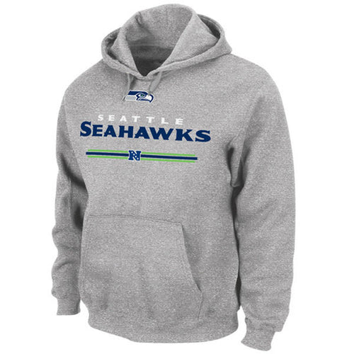 Seattle Seahawks Majestic Critical Victory Hooded Sweatshirt (Gray) - Dynasty Sports & Framing