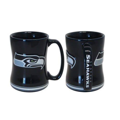 Seattle Seahawks NFL Football Logo Relief 14 oz. Mug - Dynasty Sports & Framing