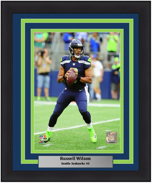 "Russell Wilson Seattle Seahawks NFL Football 8"" x 10"" Framed and Matted Photo - Dynasty Sports & Framing"