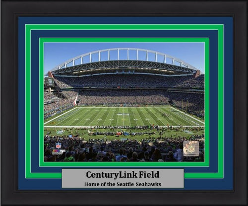 "Seattle Seahawks CenturyLink Field NFL Football Stadium 8"" x 10"" Framed and Matted Photo"