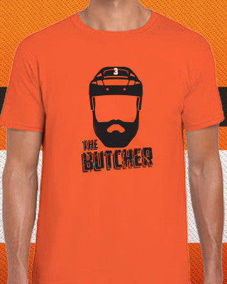 "Radko Gudas ""The Butcher"" Philadelphia Flyers Hockey Adult T-Shirt (Dynasty Sports Exclusive) - Dynasty Sports & Framing"